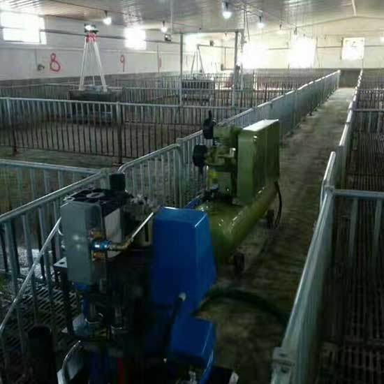 养殖场猪舍保温小型聚氨酯喷涂机施工案例