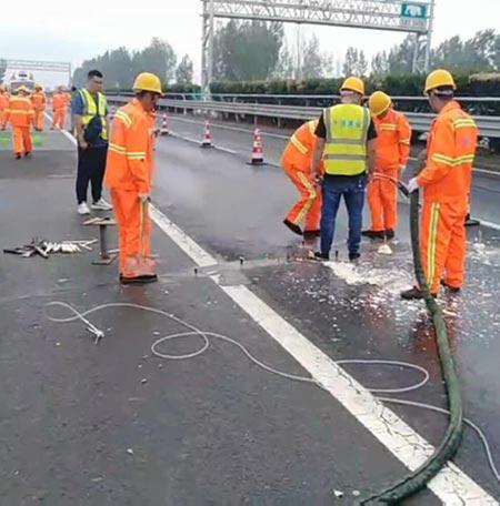 路面灌缝路基填充注浆