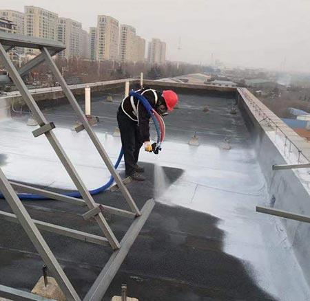 屋顶防水聚脲施工